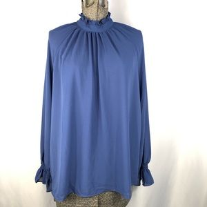 Soprano High Neck Blue Blouse